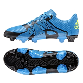 Adidas X 15.3 Youth FG/AG Soccer Cleats (Solar Blue/Black/Solar Yellow) |  Adidas Soccer Cleats |FREE SHIPPING| Adidas S77891|  SOCCERCORNER.COM