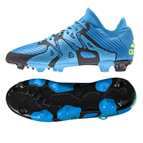 Adidas X 15.1 Youth FG/AG Soccer Cleats (Solar Blue/Black/Solar Yellow) |  Adidas Soccer Cleats |FREE SHIPPING| Adidas S77897 |  SOCCERCORNER.COM
