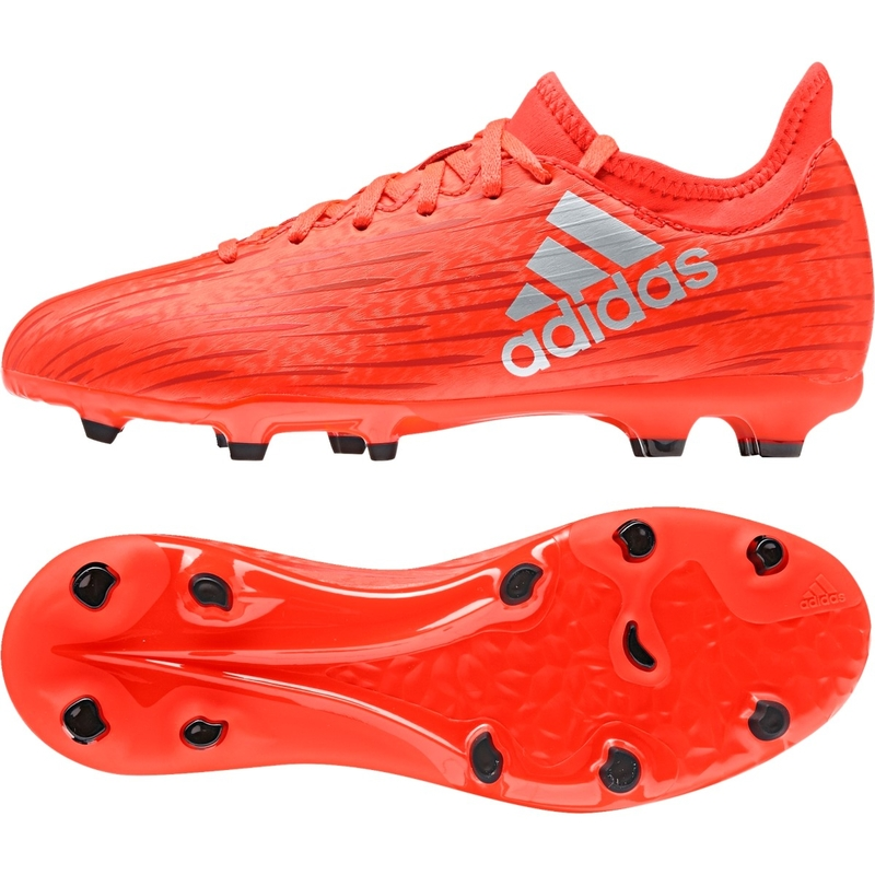 51f387a13804b Adidas X 16.3 Youth FG Soccer Cleats in Solar Red