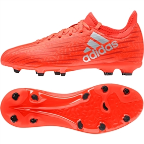 Adidas X 16.3 Youth FG Soccer Cleats in Solar Red | Adidas S79489 | SOCCERCORNER.COM