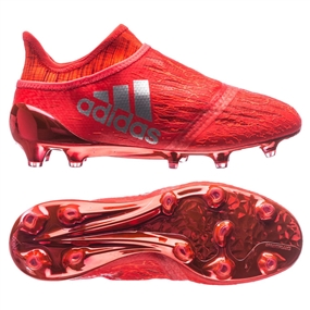 Adidas X 16+ PureChaos Youth FG Soccer Cleats (Solar Red/Silver Metallic) | Adidas Soccer Cleats |FREE SHIPPING| Adidas S79516 |  SOCCERCORNER.COM