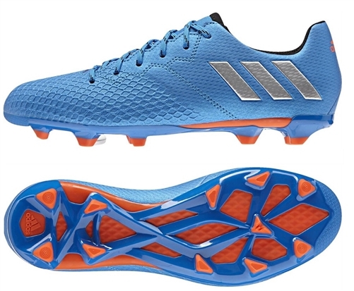 Adidas Messi 16.3 Youth FG Soccer Cleats (Shock Blue/Silver Metallic)