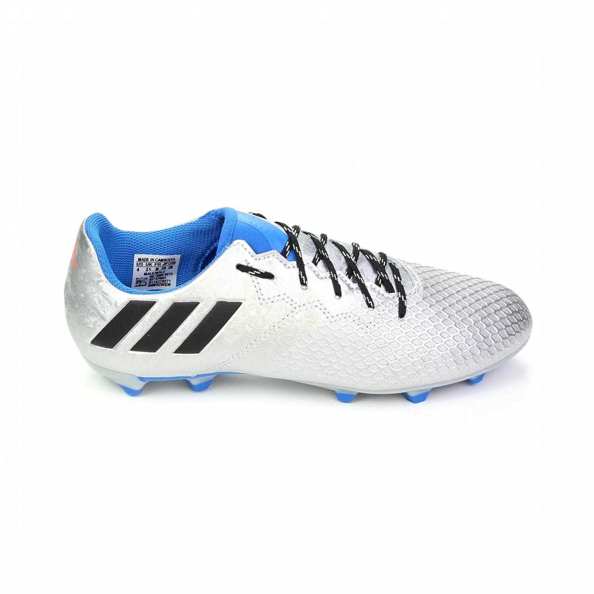 Adidas Messi 16.3 Youth FG Soccer Cleats (Silver Metallic Core Black ... 460cf3bc6