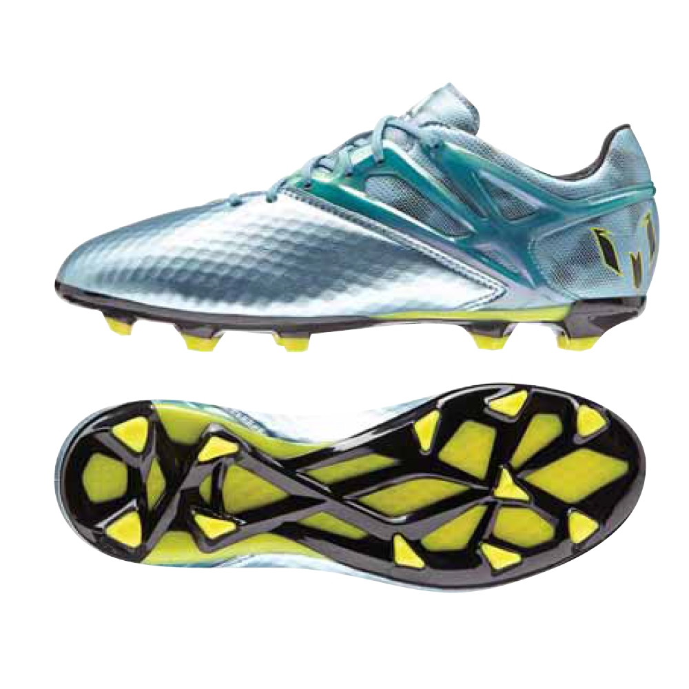 Adidas Messi 15.1 Youth FG/AG Soccer Cleats (Matte Ice Metallic/Bright  Yellow/Black)