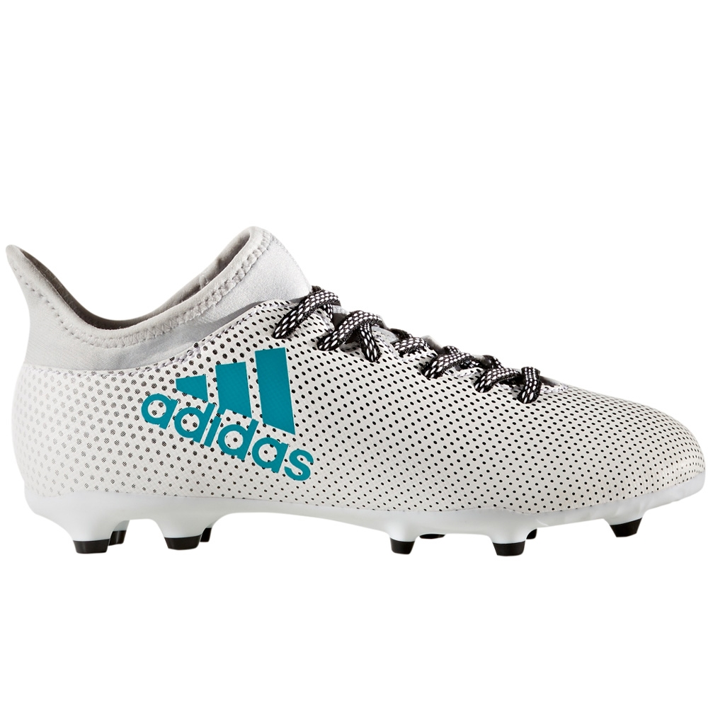 03e6871e0 Adidas X 17.3 Youth FG Soccer Cleats (White Energy Blue Clear Grey ...