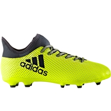 Adidas X 17.3 Youth FG Soccer Cleats (Solar Yellow/Legend Ink/Legend Ink) | Adidas S82369 | SOCCERCORNER.COM