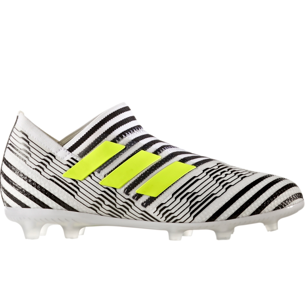 609517d5a9cf Adidas Nemeziz 17+ 360Agility Youth FG Soccer Cleats (White Solar  Yellow Core