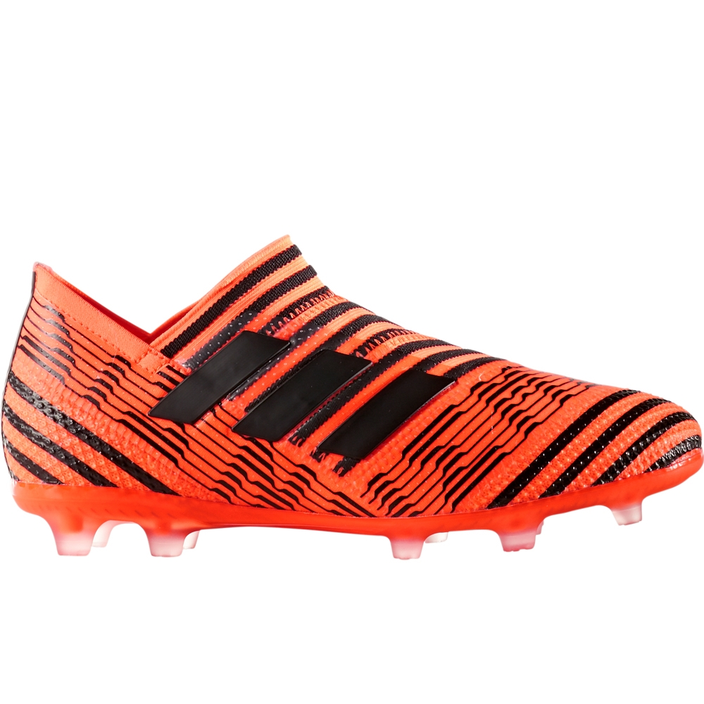 Adidas Nemeziz 17+ 360Agility Youth FG Soccer Cleats (Solar OrangeCore  BlackSolar Red)