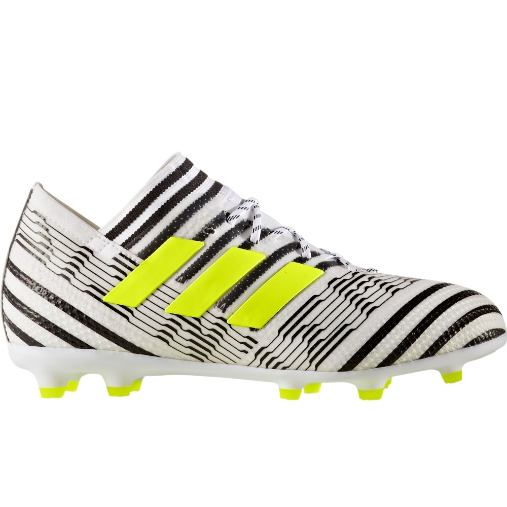 a33895843745 Adidas Nemeziz 17.1 Youth FG Soccer Cleats (White Solar Yellow Core Black)