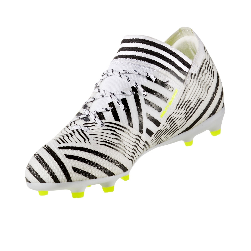 fa3905e3a13 Adidas Nemeziz 17.1 Youth FG Soccer Cleats (White Solar Yellow Core Black)