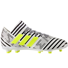 Adidas Nemeziz 17.3 Youth FG Soccer Cleats (White/Solar Yellow/Core Black) |  Adidas Soccer Cleats |FREE SHIPPING| Adidas S82426 |  SOCCERCORNER.COM