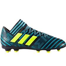 Adidas Nemeziz 17.3 Youth FG Soccer Cleats (Legend Ink/Solar Yellow/Energy Blue) |  Adidas Soccer Cleats | FREE SHIPPING | Adidas S82427 |  SOCCERCORNER.COM