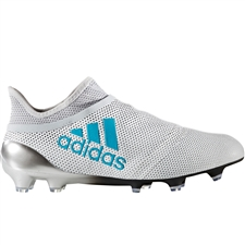 Adidas X 17+ PureSpeed Youth FG Soccer Cleats (White/Energy Blue/Clear Grey) | Adidas Soccer Cleats |FREE SHIPPING| Adidas S82450 |  SOCCERCORNER.COM