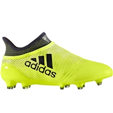 Adidas X 17+ PureSpeed Youth FG Soccer Cleats (Solar Yellow/Legend Ink/Legend Ink) | Adidas Soccer Cleats |FREE SHIPPING| Adidas S82451 |  SOCCERCORNER.COM