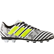 Adidas Nemeziz 17.4 Youth FG Soccer Cleats (White/Solar Yellow/Core Black) |  Adidas Soccer Cleats |FREE SHIPPING| Adidas S82459 |  SOCCERCORNER.COM