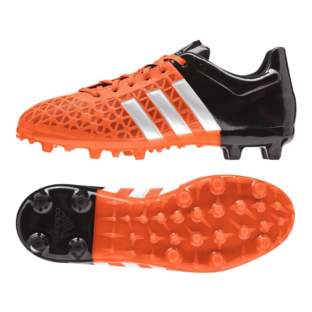 pretty nice b9863 945a1 Adidas ACE 15.3 Youth FG AG Soccer Cleats (Solar Orange White Black
