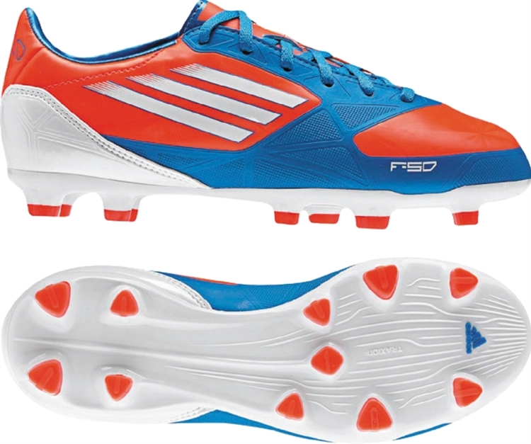 Adidas F30 juventud F30 youth soccer cleats en azul v21354