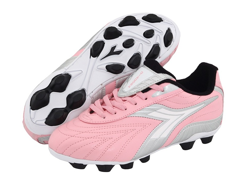 1896ccc7 Diadora Furia MD Youth Soccer Cleats (Pink/Charcoal)