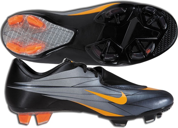 nouvelle arrivee 46fae e7c7e Nike Mercurial Vapor VI FG Youth Soccer Cleats (Black/Circuit Orange/Black)