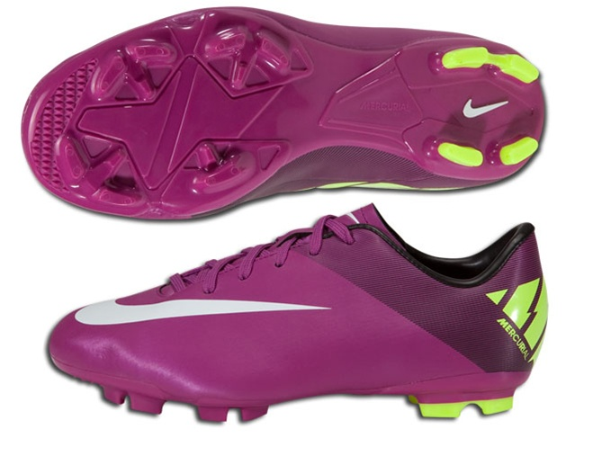 the best attitude 92d50 33b9d Nike Mercurial Victory II FG Youth Soccer Cleats (Red  Plum/Volt/Black/Windchill)