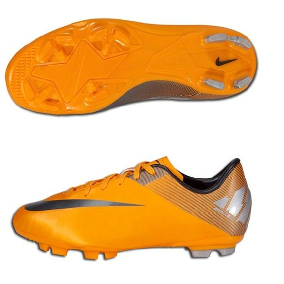reputable site bcc46 468d2 Nike Mercurial Victory II FG Youth Soccer Cleats (Orange Peel/Metallic  Silver/Volt/Metallic Hematite)