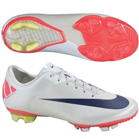 05d97a70f Nike Mercurial Vapor VII FG Youth Soccer Cleats (Granite White Solar Red
