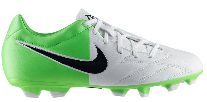 premium selection 6d5a3 3b8d4 Youth Soccer Cleats  Nike T90 Shoot IV FG Youth Cleat in White and Green    472567-170  T90 Shoot 4 Youth    SOCCERCORNER.COM