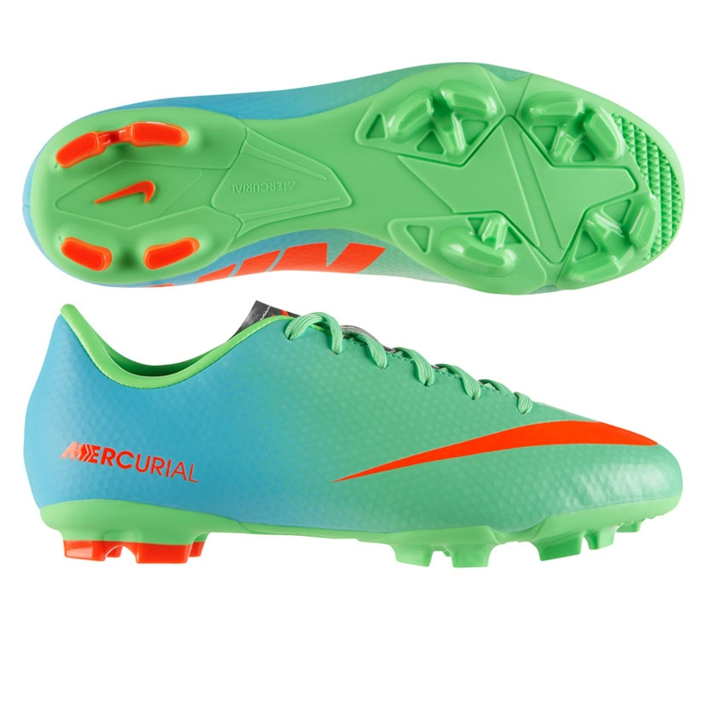 5e8910e91602 Nike Youth Mercurial Victory IV FG Soccer Cleats (Neo Lime Metallic  Silver Polarized