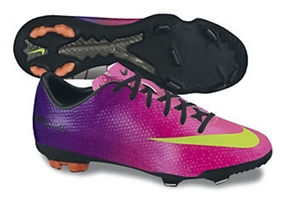 Nike Youth Mercurial Vapor IX FG Soccer Cleats (Fireberry/Red Plum/Black/Electric Green)