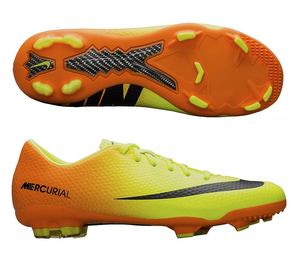 36a5fe1353e2 Nike Youth Mercurial Vapor IX FG Soccer Cleats (Volt Bright Citrus Black)