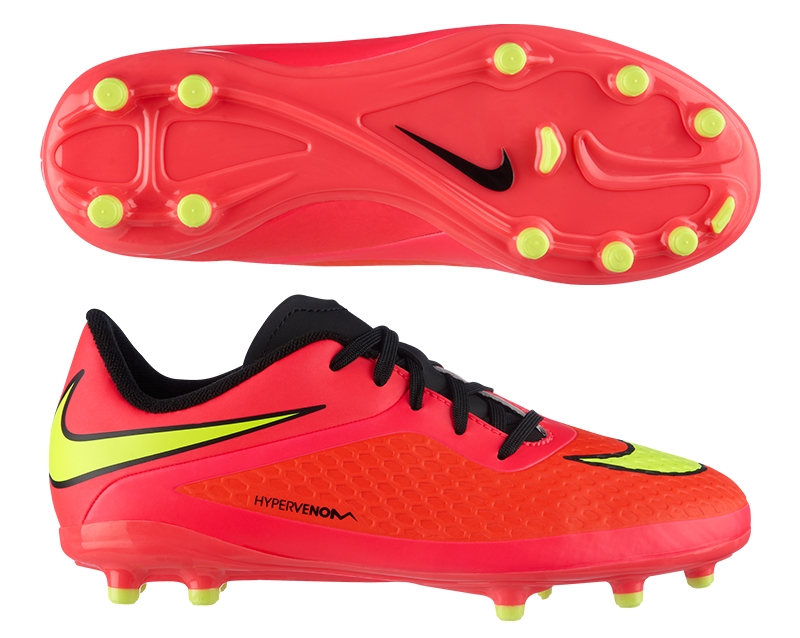 info for 46c9a ee3e3 Nike Hypervenom Phelon Youth Soccer Cleats (Crimson/Volt/Hyper Punch)