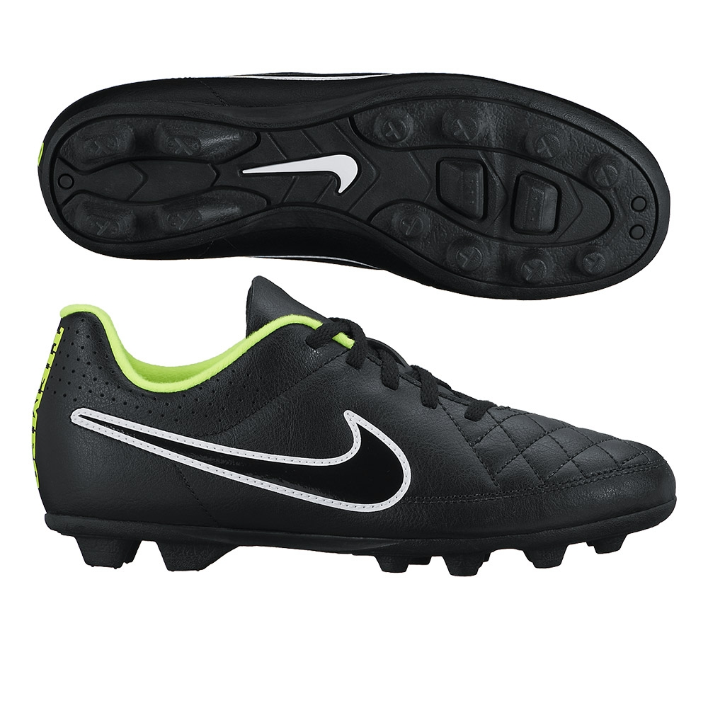 cc2ab0302 SALE  24.95 - Nike Tiempo Rio II FG Youth Soccer Cleats (Black Volt ...