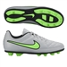 Nike Tiempo Rio II FG Youth Soccer Cleats (Wolf Grey/Green Strike)