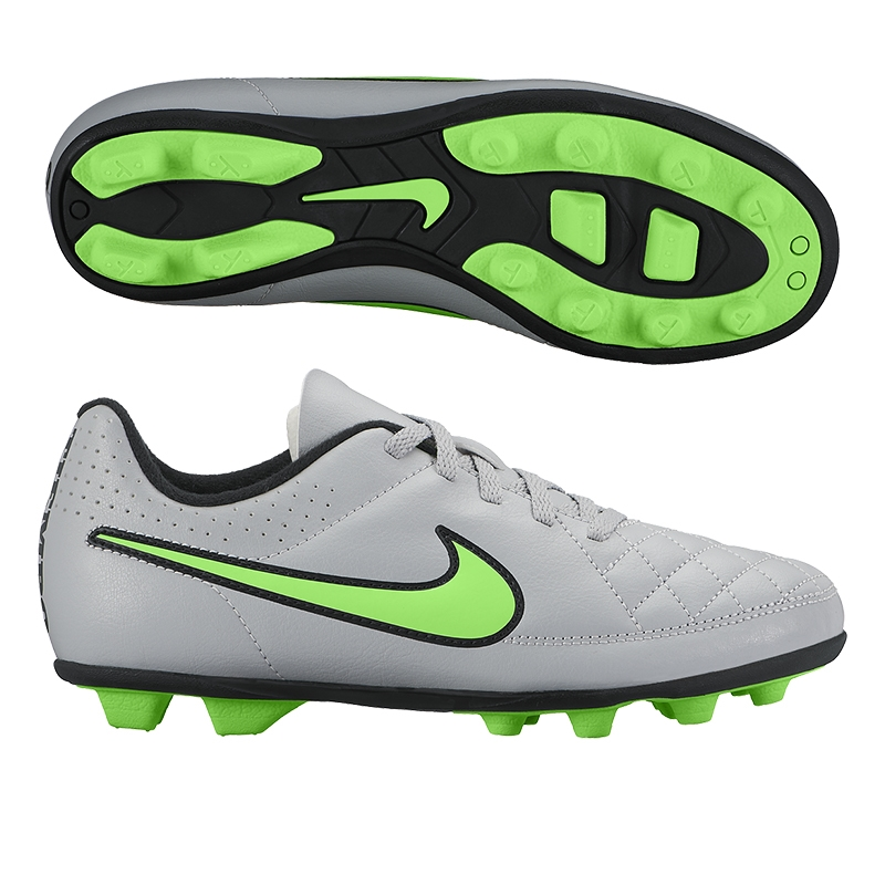 86648c23baee $31.49 - Nike Tiempo Rio II FG Youth Soccer Cleats (Wolf Grey/Green Strike)  | 631286-030 | Nike Tiempo Youth | Youth Soccer Cleats | SOCCERCORNER.COM