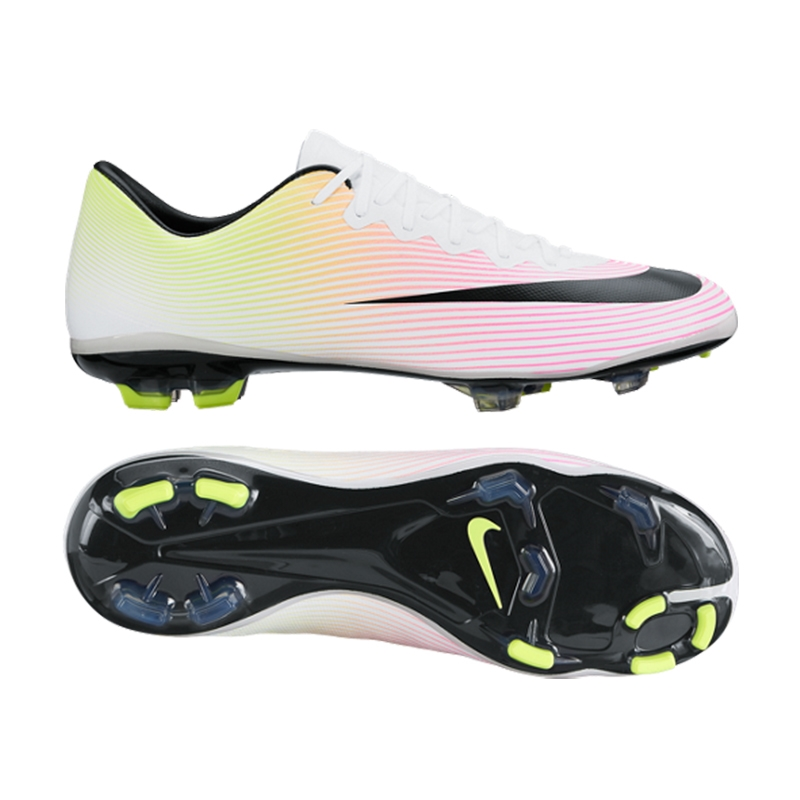 cheaper 8a70c f3f1f Nike Youth Mercurial Vapor X FG Soccer Cleats (White/Volt/Total  Orange/Black)