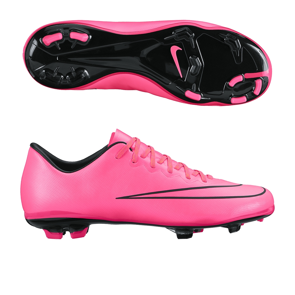 Youth Mercurial Vapor X FG Soccer Cleats (Hyper Pink Black)  04d689e90