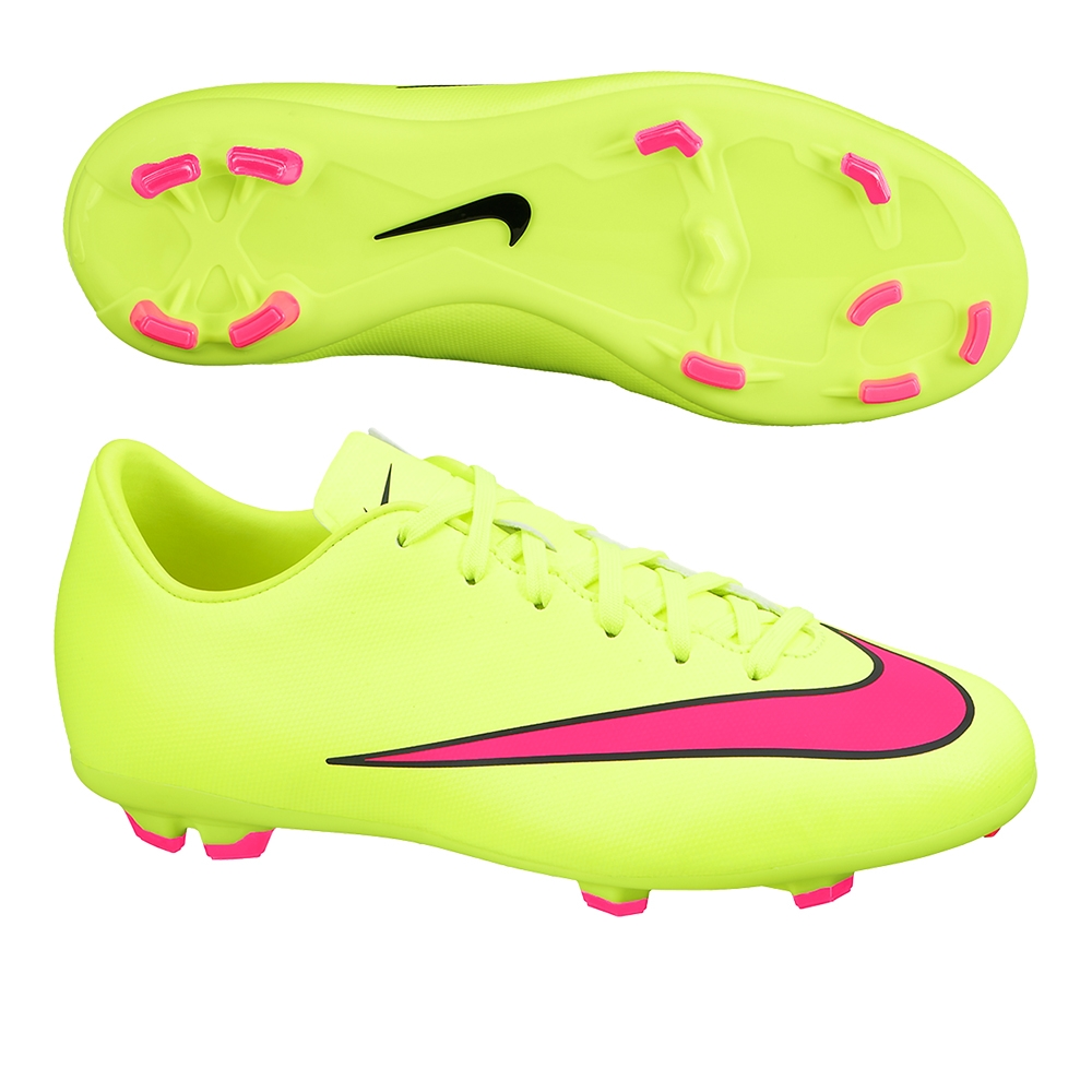 Youth Mercurial Victory V FG Soccer Cleats (Volt Black Hyper Pink ... 0aec2798f