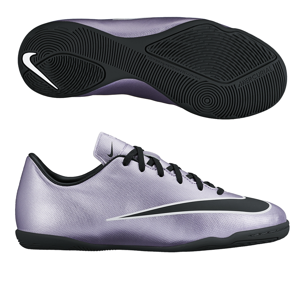 Nike Youth Mercurial Victory V IC Indoor Soccer Shoes (Urban Lilac/Bright  Mango/