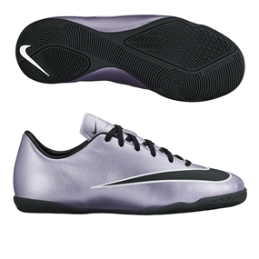 Nike Youth Mercurial Victory V IC Indoor Soccer Shoes (Urban Lilac/Bright Mango/Black)