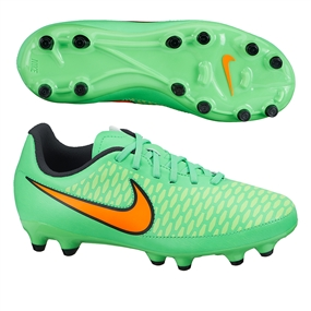 Nike Magista Onda FG Youth Soccer Cleats (Poison Green/Flash Lime/Black/Total Orange)