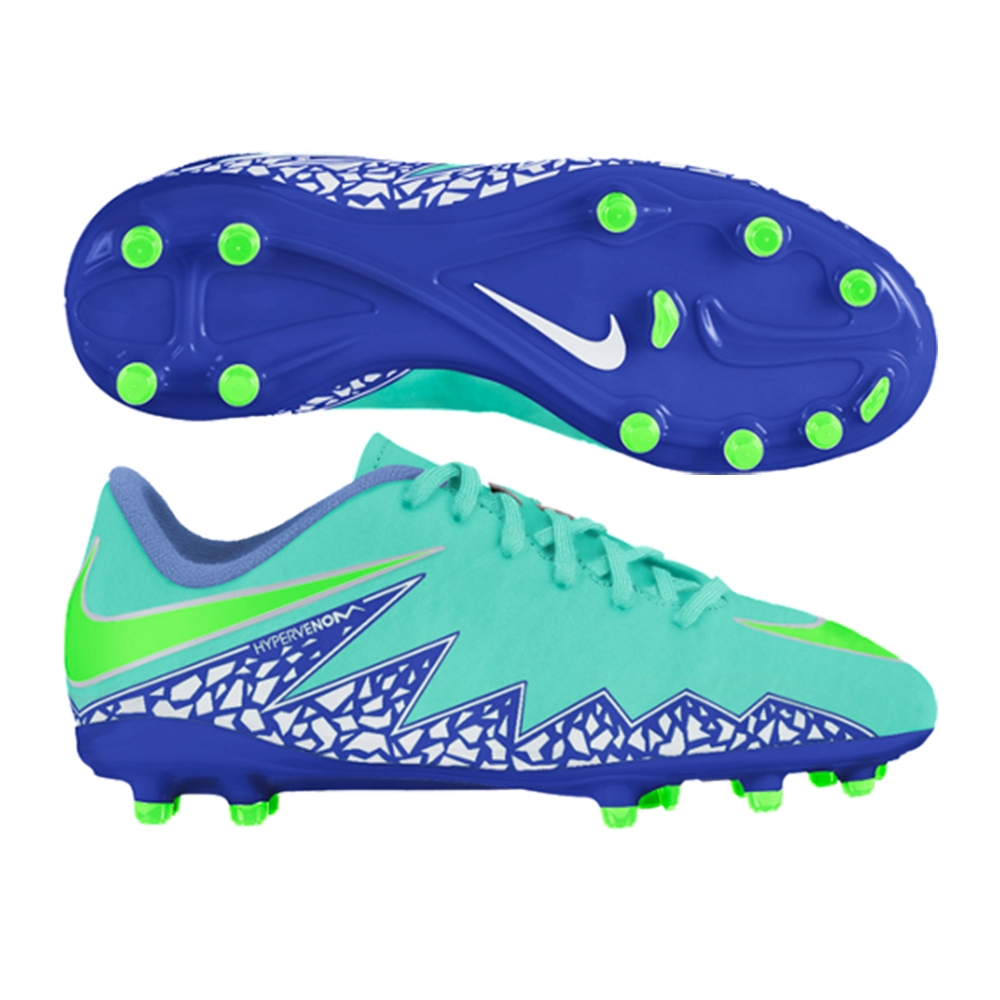 b956ec788e7c  54.99 Add to Cart for Price - Nike Hypervenom Phelon II Youth Soccer Cleats  (Hyper Turquoise Racer Blue Chalk Blue Voltage Green)