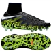 Nike Youth Hypervenom Phantom II Soccer Cleats (Black/White/Volt/Paramount Blue)