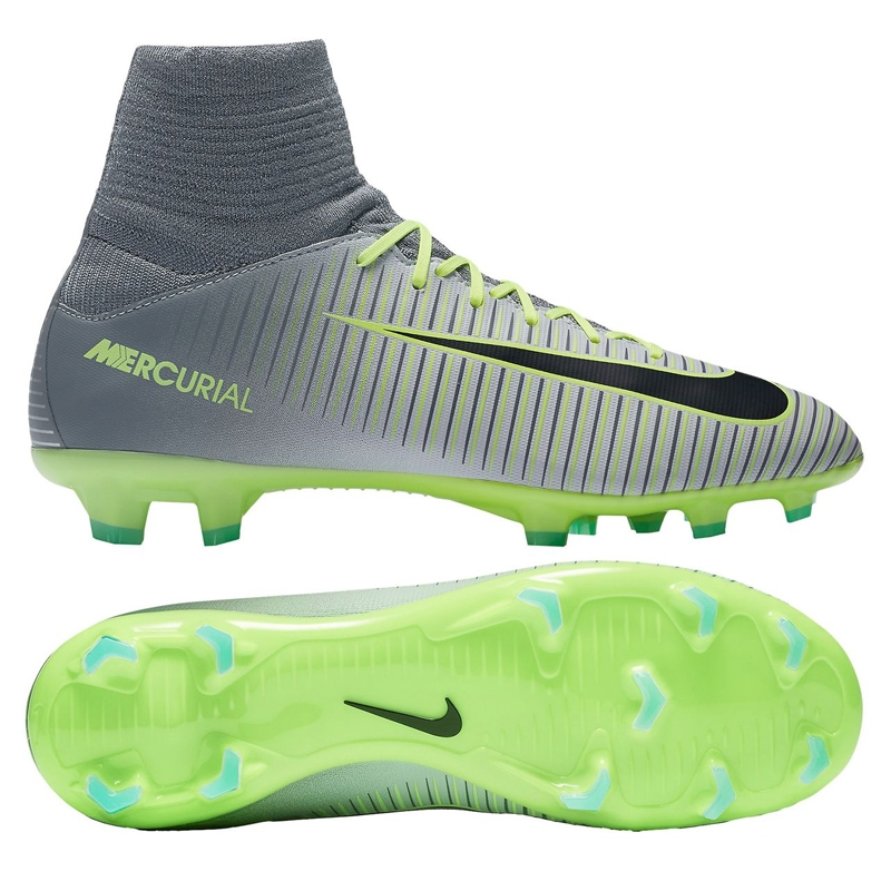 check out f4a76 35644 ... Nike Youth Mercurial SuperFly V FG Soccer Cleats (Pure Platinum Black  Ghost Green Nike Mercurial Vapor XI Neymar Jr ...