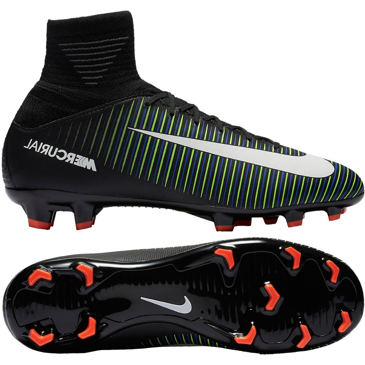 f5a7589db7b Nike Youth Mercurial SuperFly V FG Soccer Cleats (Black White ...