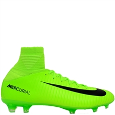Nike Youth Mercurial SuperFly V FG Soccer Cleats (Electric Green/Black/Flash Lime/White)