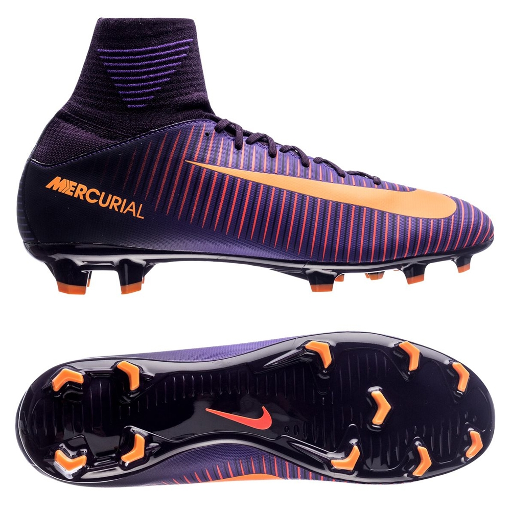 buy online c699b 59ac9 Nike Youth Mercurial SuperFly V FG Soccer Cleats (Purple Dynasty/Bright  Citrus/Hyper Grape)