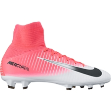Nike Youth Mercurial SuperFly V FG Soccer Cleats (Racer Pink/Black/White)