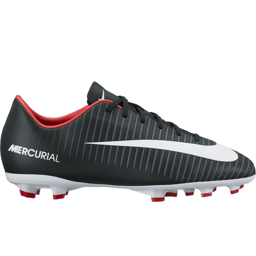 official photos 166fc 6dcd7 Nike Youth Mercurial Victory VI FG Soccer Cleats (Black/White/Dark  Grey/University Red)