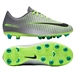 Nike Youth Mercurial Vapor XI FG Soccer Cleats (Pure Platinum/Black/Ghost Green)