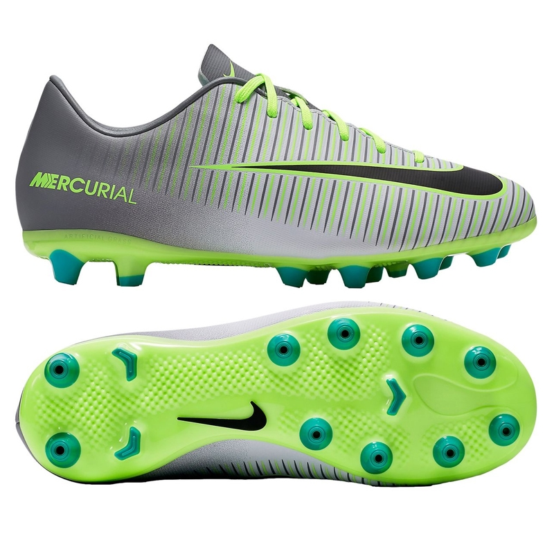 42522d954 Nike Youth Mercurial Vapor XI FG Soccer Cleats (Pure Platinum Black ...